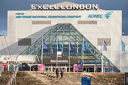 © Licensed to London News Pictures. 02/01/2021. London, UK. The Excel Centre, in East London. The centre was converted into a Nightingale hospital treating Covid-19 patients during the first pandemic in April 2020 and is on standby following a surge of Covid-19 cases following the Christmas holidays. Photo credit: Ray Tang/LNP