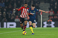 Football - 2018 / 2019 Premier League - Southampton vs. West Ham United<br /> <br /> Southampton's Yan Valery and Declan Rice of West Ham United in action during the Premier League match at St Mary's Stadium Southampton  <br /> <br /> COLORSPORT/SHAUN BOGGUST