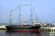 The  Jeanie Johnston replica famine ship which is  moored at Fenit Pier in County Kerry ..Picture by Don MacMonagle