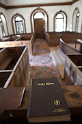 Inside of St. James Santee Episcopal Church built by French Huguenots in 1768 McClellanville, SC.