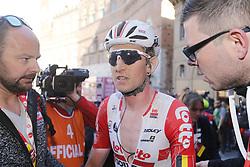 March 9, 2019 - Siena, Italy - Belgian Tiesj Benoot of Lotto Soudal pictured after the Strade Bianche one day cycling race in Siena, Italy, Saturday 09 March 2019...BELGA PHOTO YUZURU SUNADA (Credit Image: © Yuzuru Sunada/Belga via ZUMA Press)