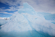 Snow and ice on Detaille Island, South of the Antarctic Circle, Antarctica.