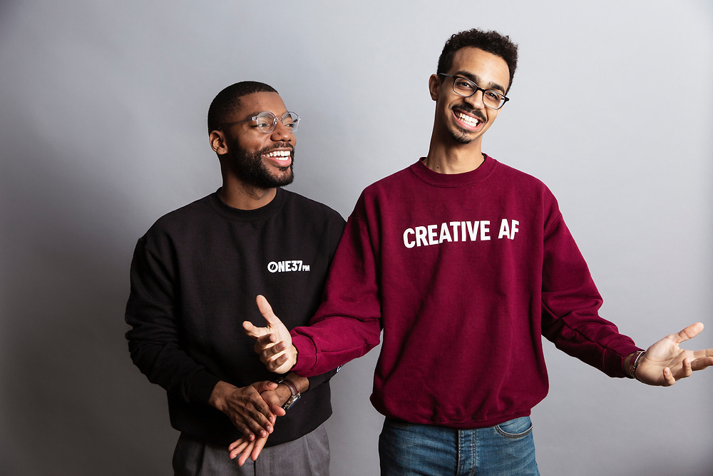 Brandon Bryant and John Henry millennial entrepreneurs and influencers, photographed for ONE37pm in 2019.