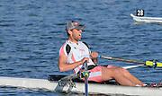 Reading. United Kingdom.  Men's single sculls, A Final.  Jack BEAUMONT,   2014 Senior GB Rowing Trails, Redgrave and Pinsent Rowing Lake. Caversham.<br /> <br /> 17:41:45  Saturday  19/04/2014 <br /> <br />  [Mandatory Credit: Peter Spurrier/Intersport<br /> Images]