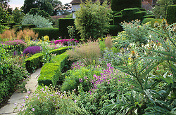 General view of the stock beds at Great Dixter