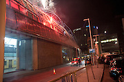 fireworks, Ark fundraising dinner and auction. ( Absolute Return for Kids ) Old Eurostar Terminal. Waterloo Station. London. 4 June 2009