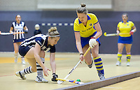 ROTTERDAM - Finale tussen de dames van Hilversum en HDM. Landskampioenschap zaalhockey voor reserveteams. FOTO KOEN SUYK