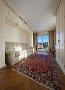 Interior, comfortable living room with classic design furniture
