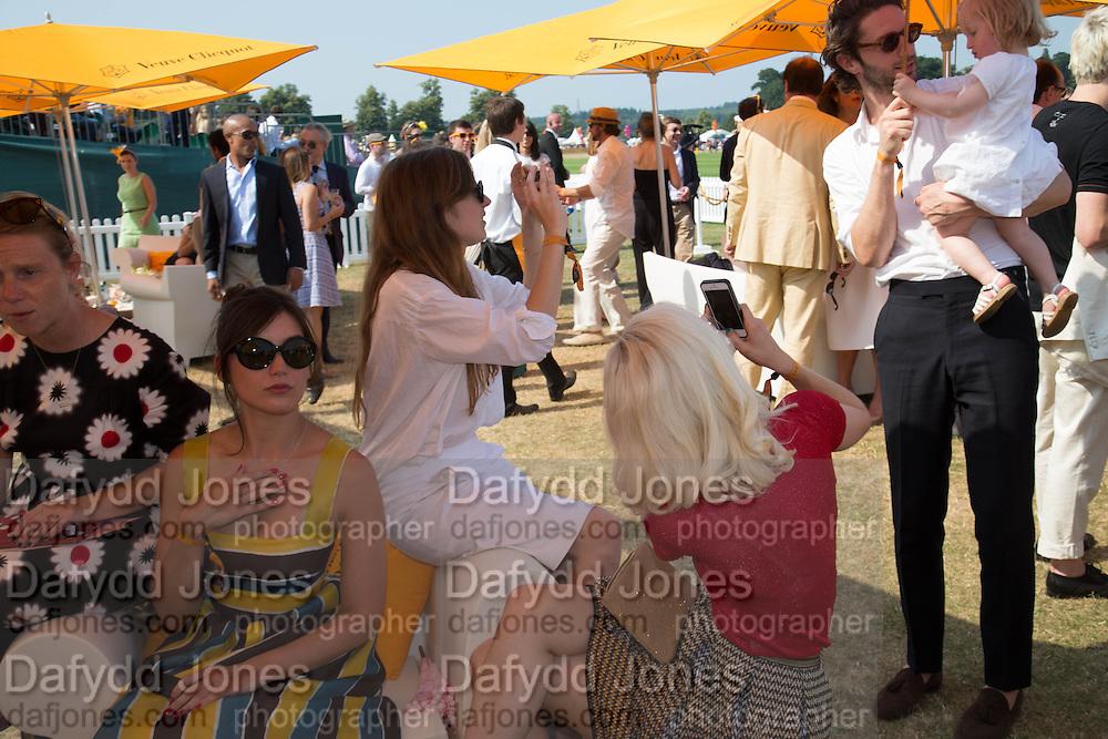 DAISY LOWE, Jonathan Heaf; Valentine Fillol Cordier<br /> Veuve Clicquot Gold Cup, Cowdray Park, Midhurst. 21 July 2013