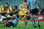 Victor Vito. Waratahs v Hurricanes. 2012 Super Rugby round 15 match. Allianz Stadium, Sydney Australia on Saturday 2 June 2012. Photo: Clay Cross / photosport.co.nz