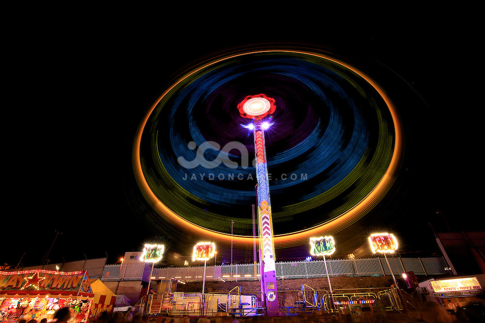 Long Exposure night shots of rides at the Brisbane Ekka. These are some extreme rides.<br />