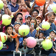 2016 U.S. Open - Day 6  Young fans attempt to get an autograph from Serena Williams of the United States as she leaves the court after he victory against Johanna Larsson of Sweden in the Women's Singles round three match on Arthur Ashe Stadium on day six of the 2016 US Open Tennis Tournament at the USTA Billie Jean King National Tennis Center on September 3, 2016 in Flushing, Queens, New York City.  (Photo by Tim Clayton/Corbis via Getty Images)