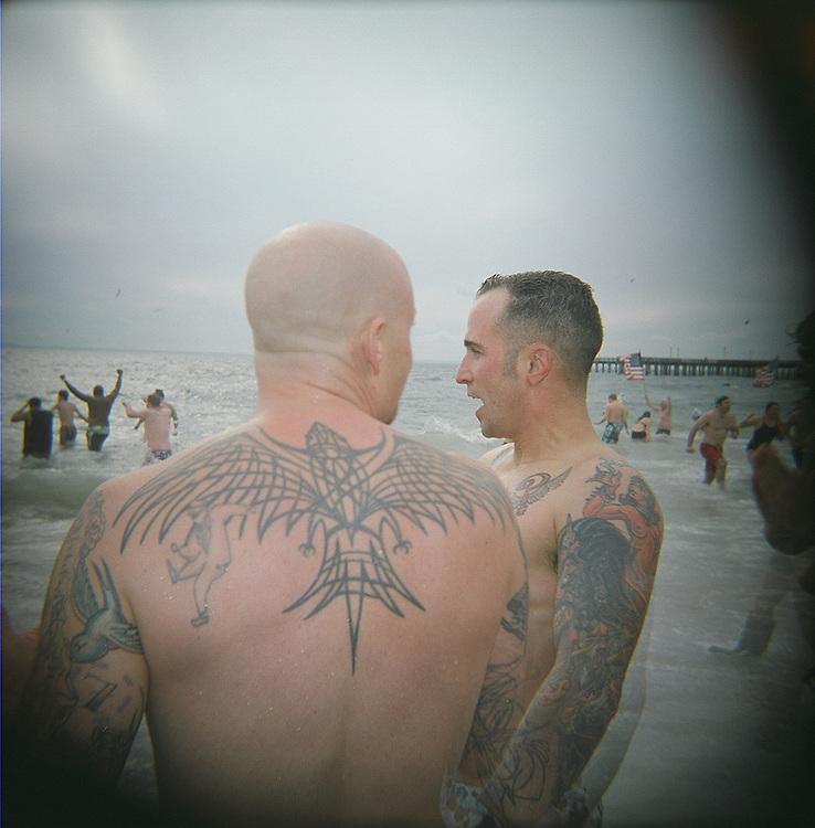 Tattooed men, Coney Island, Brooklyn, 2008