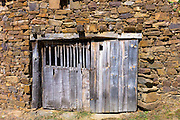 Old barn door in Somaniezo, Cantabria, Northern Spain