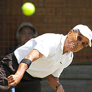 Seikei Mori, Japan,  in action in the 75 Mens Singles  during the 2009 ITF Super-Seniors World Team and Individual Championships at Perth, Western Australia, between 2-15th November, 2009.