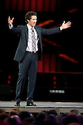 Joel Osteen speaks during the 2013 MegaFest at the American Airlines Center in Dallas, Texas on August 30, 2013.