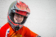 #911 (SHRIEVER Bethany) GBR during practice at Round 5 of the 2018 UCI BMX Superscross World Cup in Zolder, Belgium