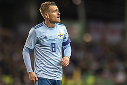 November 15, 2018 - Dublin, Ireland - Steven Davis of N.Ireland looks on during the International Friendly match between Republic of Ireland and Northern Ireland at Aviva Stadium in Dublin, Ireland on November 15, 2018  (Credit Image: © Andrew Surma/NurPhoto via ZUMA Press)