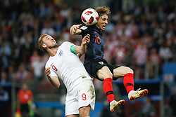 July 11, 2018 - Moscow, Vazio, Russia - Harry KANE of England and Luka MODRIC of Croatia during match between England and Croatia valid for the semi final of the 2018 World Cup, held at the Lujniki Stadium in Moscow in Russia. Croatia wins 2-1. (Credit Image: © Thiago Bernardes/Pacific Press via ZUMA Wire)