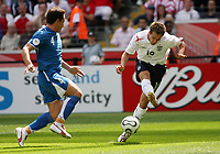 Photo: Chris Ratcliffe.<br /> England v Paraguay. Group B, FIFA World Cup 2006. 10/06/2006.<br /> Michael Owen of England misses a great chance for a second goal.