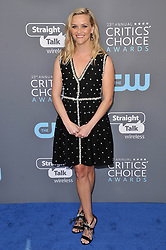 Reese Witherspoon at The 23rd Annual Critics' Choice Awards held at the Barker Hangar on January 11, 2018 in Santa Monica, CA, USA (Photo by Sthanlee B. Mirador/Sipa USA)