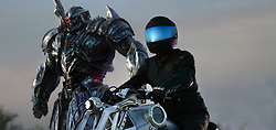 Left to right: Megatron and Mohawk in TRANSFORMERS: THE LAST KNIGHT, from Paramount Pictures.