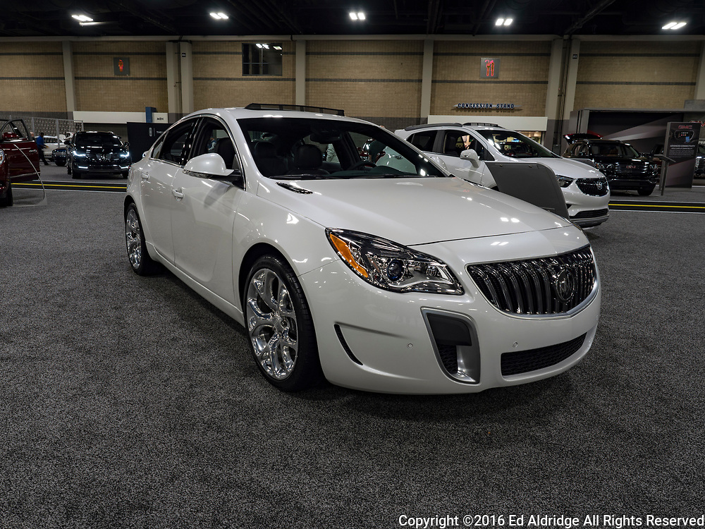 CHARLOTTE, NC, USA - NOVEMBER 17, 2016: Buick Regal on display during the 2016 Charlotte International Auto Show at the Charlotte Convention Center in downtown Charlotte.