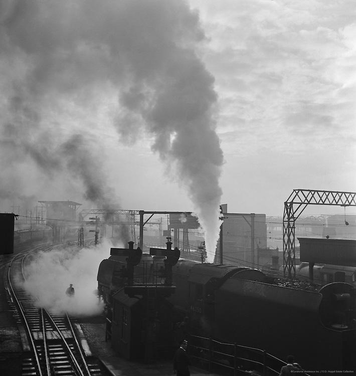 Engines Under Steam, Manchester Station, c.1935