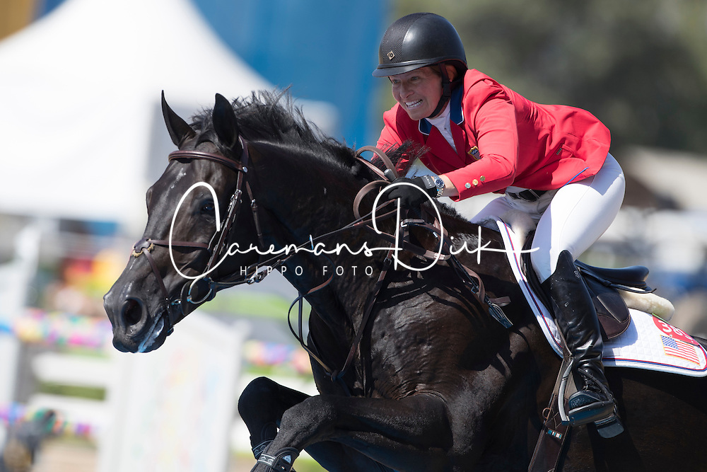 Madden Beezie, USA, Cortes C<br /> owner of the horse of Jerome with arms in the air<br /> Olympic Games Rio 2016<br /> © Hippo Foto - Dirk Caremans<br /> 14/08/16