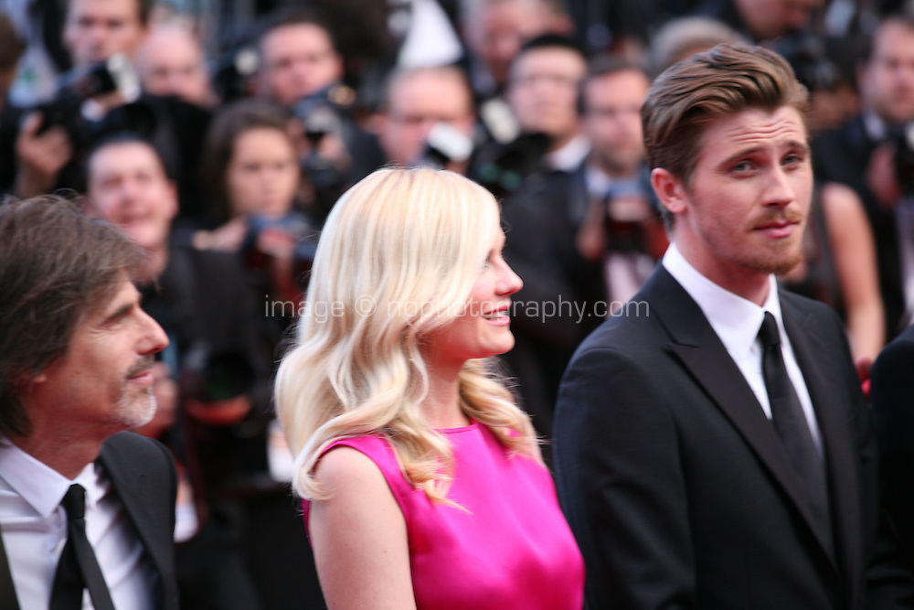 Director Walter Salles, Kirsten Dunst, Garret Hedlund,  at the On The Road gala screening red carpet at the 65th Cannes Film Festival France. The film is based on the book of the same name by beat writer Jack Kerouak and directed by Walter Salles. Wednesday 23rd May 2012 in Cannes Film Festival, France.