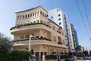 Israel, Tel Aviv, The Renovated Pagoda building, Nachmani Street, .