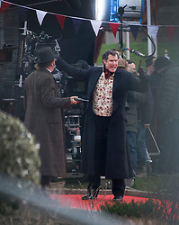 © Licensed to London News Pictures. 09/02/2017. London, UK. Actors Will Ferrell and John C. Reilly are seen filming a new Sherlock Holmes movie 'Holmes and Watson' at Hampton Court. Photo credit: Peter Macdiarmid/LNP