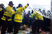 Mcc0027103 . Daily Telegraph..Students protesting in Westminster today against Tuition  Fee rises clash with Police at the Conservative Party headquarters...London 10 November 2010.....