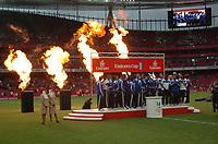 Photo: Tony Oudot/Richard Lane Photography.  Juventus v SV Hamburg. Emirates Cup. 03/08/2008. <br /> FC Hamburg lift the Emirates Cup 2008