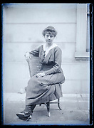 sitting adult woman posing France ca 1920s