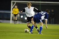 Fotball, 21. februar 2004, La Manga, Rosenborg-Dynamo Kiev 4-4,  Ørjan Berg, Rosenborg, og  Guysiev Oleh, Dynamo Kiev