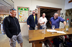 03 Sept 2019. Fressin, Pas de Calais, France.<br /> Messing about with cars. With Rob and Mark in the Porsche, Simon in the Lotus Elan Sprint and Chris in the Jaguar. Visiting the best wine cellar, or 'cave' in Pas de Calais at the Caves de Vieux Chai in Fressin.<br /> Photo©; Charlie Varley/varleypix.com