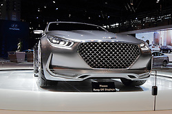 11 February 2016:  Genesis Vision G by Hyundai.<br /> <br /> First staged in 1901, the Chicago Auto Show is the largest auto show in North America and has been held more times than any other auto exposition on the continent.  It has been  presented by the Chicago Automobile Trade Association (CATA) since 1935.  It is held at McCormick Place, Chicago Illinois<br /> #CAS16