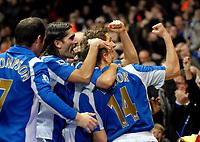 Photo: Ed Godden.<br /> Arsenal v Portsmouth. The Barclays Premiership. 16/12/2006. Portsmouth's Matthew Taylor (number 14) celebrates scoring his goal.
