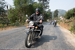 Scotty Busch on day-9 of our Himalayan Heroes adventure riding from Pokhara to Nuwakot, Nepal. Wednesday, November 14, 2018. Photography ©2018 Michael Lichter.
