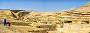 Ongoing Archaeological excavation in Saqqara