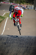 #40 (NAVRESTAD Tore) NOR during practice at Round 9 of the 2019 UCI BMX Supercross World Cup in Santiago del Estero, Argentina