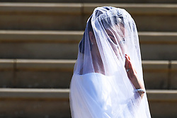 Meghan Markle arrives at St George's Chapel in Windsor Castle for her royal wedding ceremony to Britain's Prince Harry, in Windsor, Britain, 19 May 2018. Photo by Neil Hall / ABACAPRESS.COM