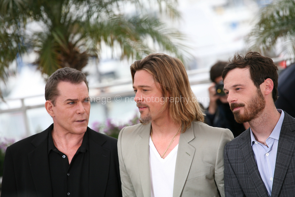 Ray Liotta, Brad Pitt, Scoot McNairy,   at the Killing Them Softly photocall at the 65th Cannes Film Festival France. Tuesday 22nd May 2012 in Cannes Film Festival, France.
