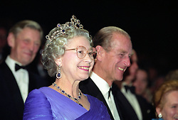 File photo dated 29/10/92 of Queen Elizabeth II and the Duke of Edinburgh at an event celebrating the 40th anniversary of her accession to the throne. The Royal couple will celebrate their platinum wedding anniversary on November 20.