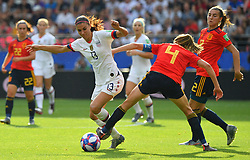 USA's Alex Morgan during the 2019 FIFA Women's World Cup Round Of 16 match Spain v USA at Stade Auguste Delaune on June 24, 2019 in Reims, France. USA won 2-1 reaching the quarter-finals. Photo by Christian Liewig/ABACAPRESS.COM