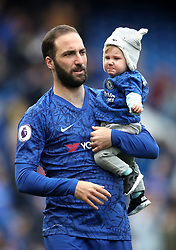 Chelsea's Gonzalo Higuain during the Lap of Appreciation during the Premier League match at Stamford Bridge, London.