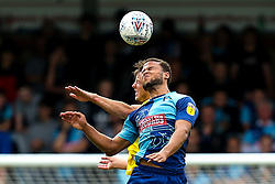 Curtis Thompson of Wycombe Wanderers challenges Ollie Clarke of Bristol Rovers - Mandatory by-line: Robbie Stephenson/JMP - 18/08/2018 - FOOTBALL - Adam's Park - High Wycombe, England - Wycombe Wanderers v Bristol Rovers - Sky Bet League One