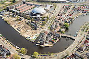Nederland, Noord-Holland, Haarlem, 09-04-2014; Koepelgevangenis en Spaarne.<br /> Prison and river Spaarne.<br /> luchtfoto (toeslag op standard tarieven);<br /> aerial photo (additional fee required);<br /> copyright foto/photo Siebe Swart
