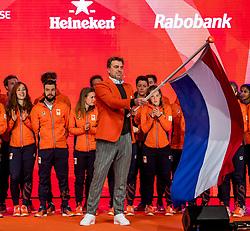 02-01-2018 NED: PloegpresentatieTeamNL, Arnhem<br /> Chef de mission Jeroen Bijl tijdens de teamoverdracht van Olympic en Paralympic TeamNL voor de Olympische Spelen van Pyeongchang